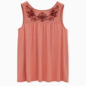 Torrid Coral Embroidered Tunic Tank Top NWT 5X